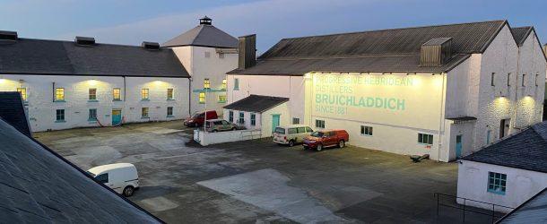 Exterior Lighting Bruichladdich Distillery Islay